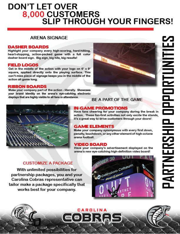 Official website of the carolina cobras become a partner please click here to download our corporate partnerships playbook which contains detailed information about our available advertising opportunities altavistaventures Choice Image
